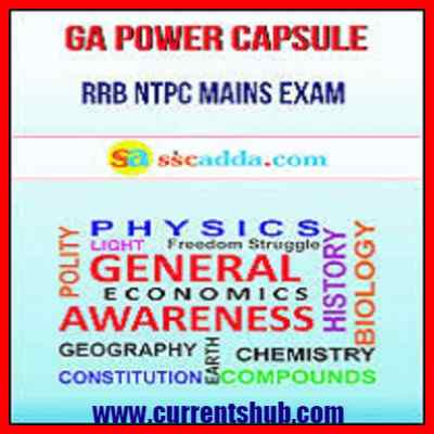 GA Power Capsule in Hindi and English for SSC CHSL & Railway 2018
