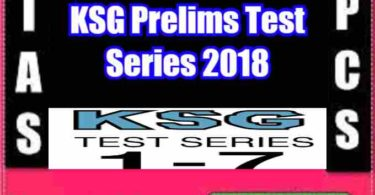 KSG Prelims Test Series