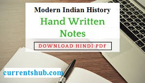 Modern Indian History Handwritten Notes in Hindi pdf Archives