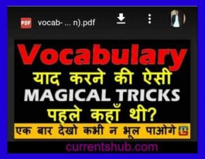 Vocabulary Magical Trick with Hindi and Pictures