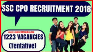 SSC CPO SI 2018 Recruitment