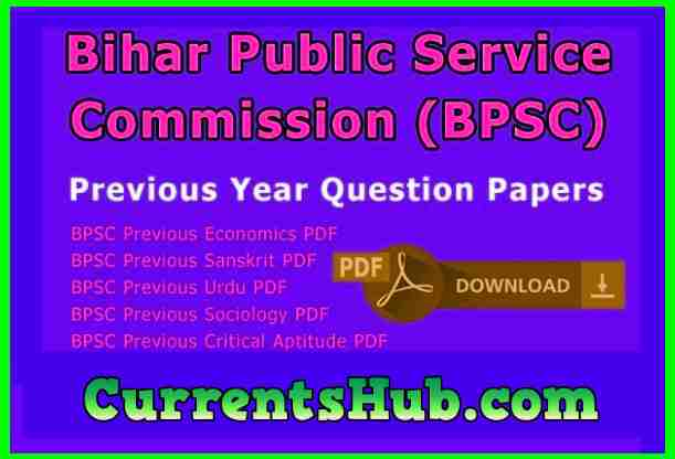 BPSC Previous Year Question Papers