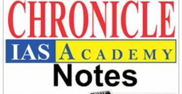 Chronicle IAS Academy notes