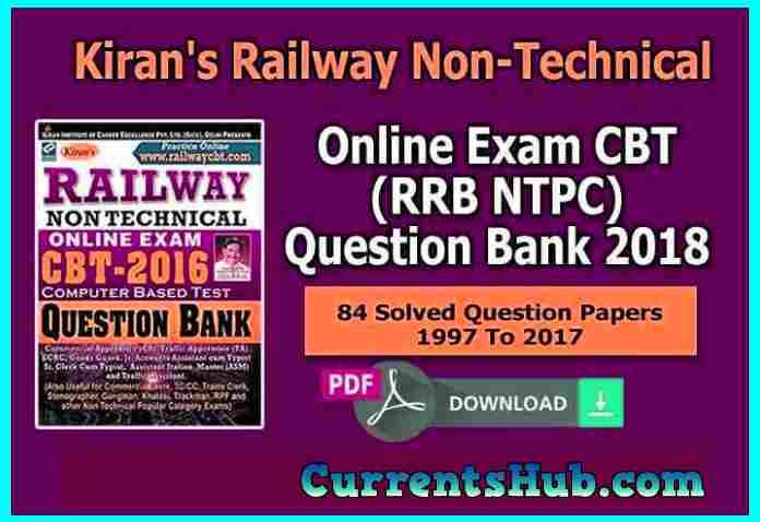 Kiran's Railway Non-Technical Online Exam CBT Question Bank PDF