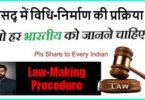 संसद् में विधि-निर्माण की प्रक्रिया