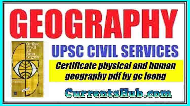 [PDF] Certificate Physical and human Geography By GC Leong