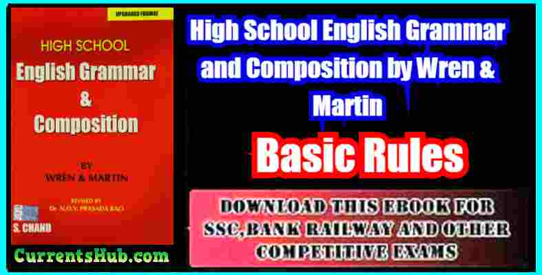 Wren And Martin English Grammar PDF Free Download