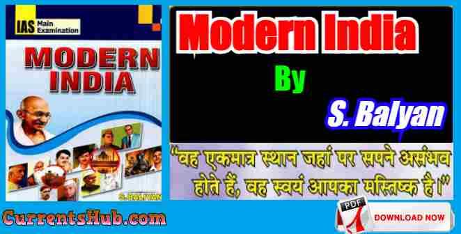 Modern India Book PDF By S. Balyan