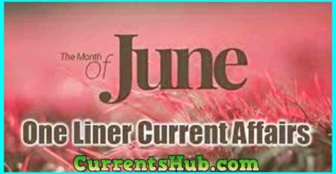 One Line Current Affair in Hindi PDF