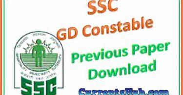 SSC GD Constable Previous Paper