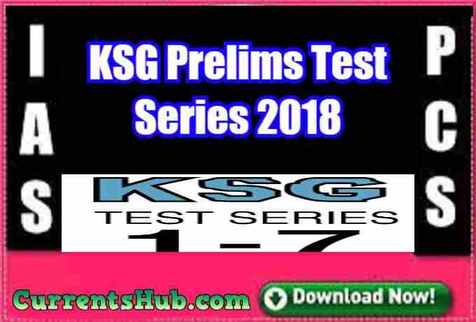 KSG Prelims Test Series