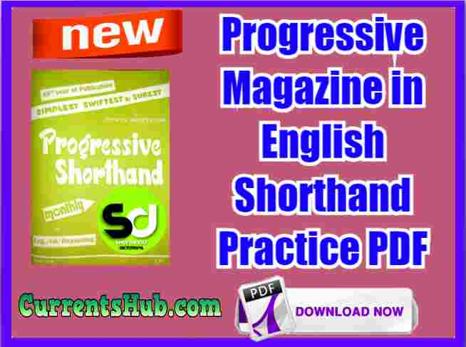 Progressive Magazine in English Shorthand Practice PDF