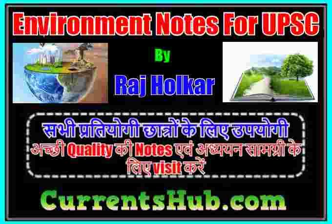 Raj Holkar Environment Handwritten Notes