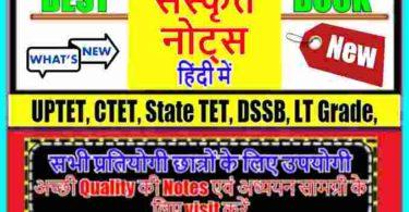 Sanskrit Notes PDF