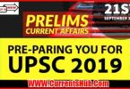 CURRENT AFFAIRS UPSC PRELIMS 2019