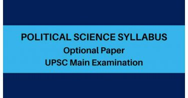 UPSC IAS Mains Optional Political Science