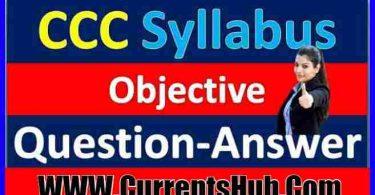 CCC Online test Syllabus