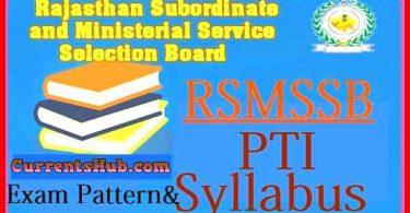 Rsmssb PTI