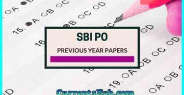 SBI PO Previous Year Question Paper