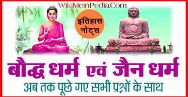 बौद्ध धर्म से संबंधित महत्वपूर्ण प्रश्न एवं उत्तर