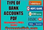 TYPE OF BANK ACCOUNTS PDF
