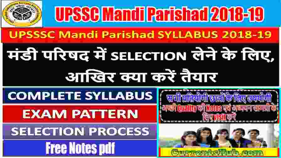 UP Mandi Parishad Previous Old Question Papers