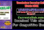 Vocabulary Everyday Living Words BOOK