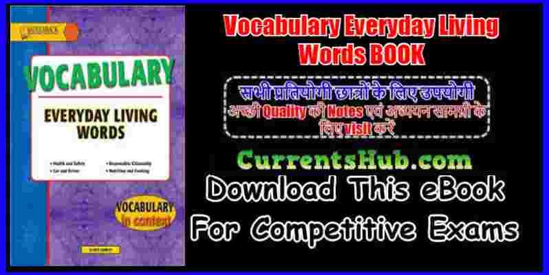 Vocabulary Everyday Living Words BOOK