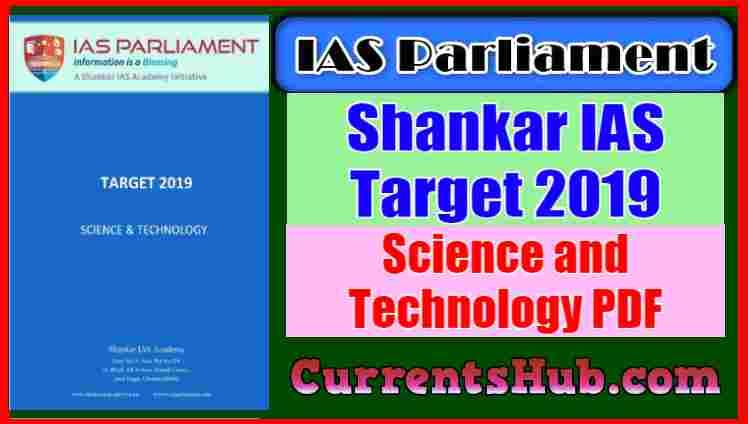 Shankar IAS Target 2019