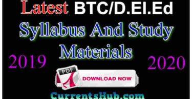 D.el.ed. Syllabus & Study Material