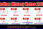 Indian History Notes 2019