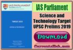 Science and Technology Target UPSC