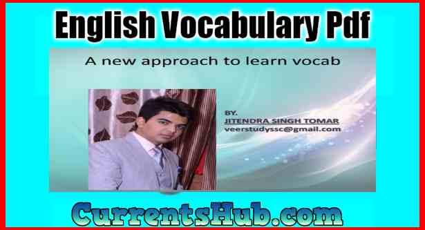 English Vocabulary By Jitendra Singh Tomar