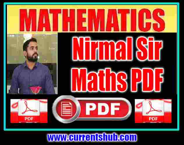 NIRMAL SIR MATHS CLASS NOTES