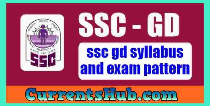ssc gd syllabus and exam pattern