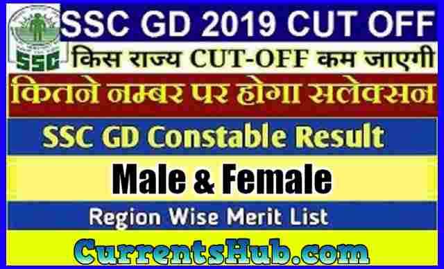 SSC Constable GD Cut Off Marks 2019