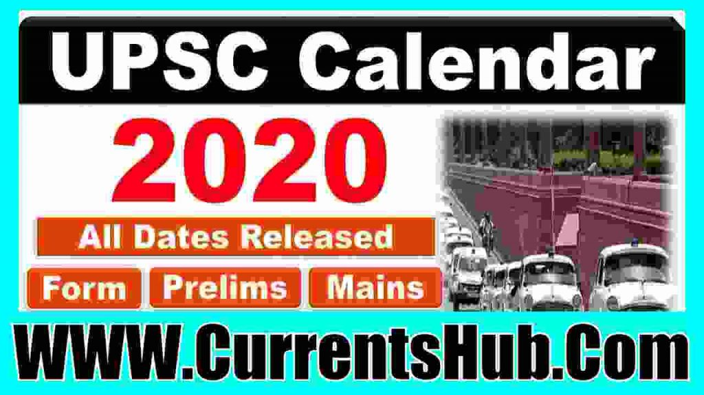 UPSC Exam Calendar 2020 in Hindi
