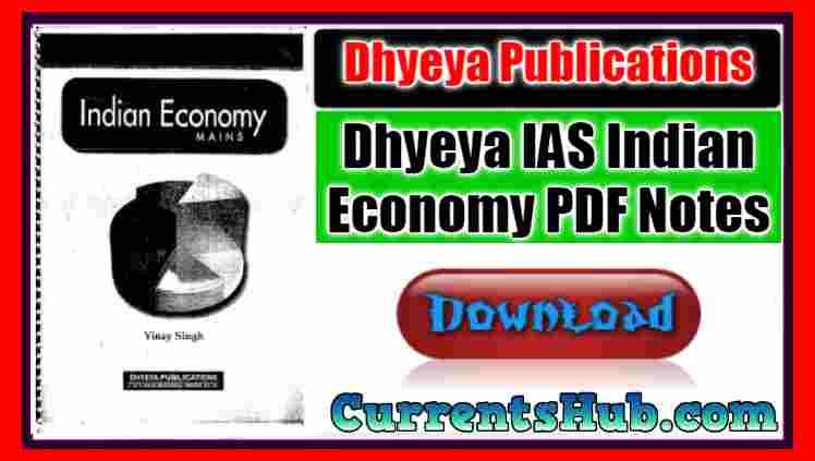 Dhyeya IAS Indian Economy PDF