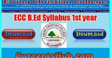 ECC B.Ed Syllabus 1st year