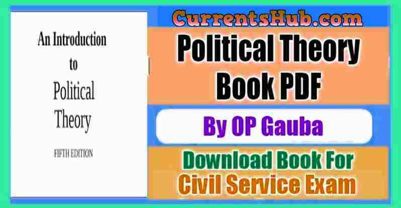 OP Gauba Political Theory Book
