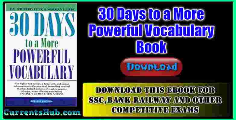 30 Days to a More Powerful Vocabulary Book