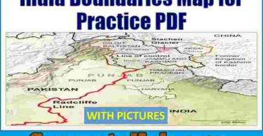 India Boundaries Map for Practice