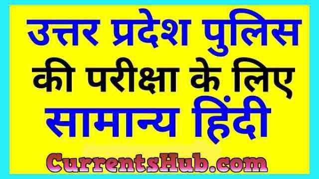 UP POLICE General Hindi