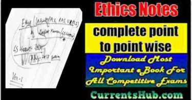 Ethics Notes For UPSC Pdf In Hindi By Vikas Sir PDF Download