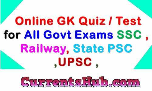 Haryana Current GK Online Test