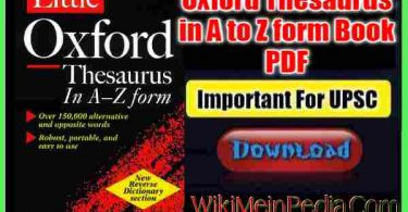 Oxford Thesaurus in A to Z form Book PDF