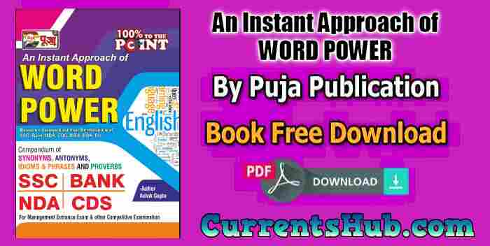 PUJA An Instant Approach of WORD POWER