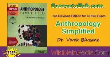 Anthropology Simplified by Vivek Bhasme Book Free Pdf Download