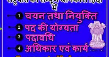 भारत के राष्ट्रपति की सम्पूर्ण जानकारी हिंदी में (President of India in Hindi)