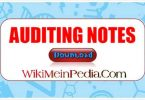 Auditing notes- Complete chapter wise notes of auditing